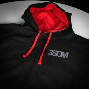 Forged Hoodie | Black & Red Hood